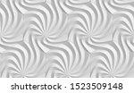 3d wallpaper of a white 3d...   Shutterstock . vector #1523509148