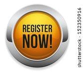 big yellow register now button   Shutterstock .eps vector #152350916