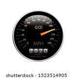 2020 year calendar speedometer... | Shutterstock .eps vector #1523514905