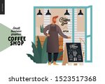 coffee shop  small business... | Shutterstock .eps vector #1523517368