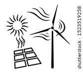 renewable energy icon. solar...   Shutterstock .eps vector #1523519258