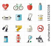 healthcare icons | Shutterstock .eps vector #152352338
