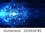 abstract futuristic digital... | Shutterstock .eps vector #1523526782