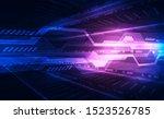 abstract futuristic digital... | Shutterstock .eps vector #1523526785