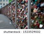 Closeup Of Love Lockers At...