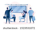 people in the subway. male and... | Shutterstock .eps vector #1523531072