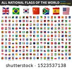 all national flags of the world ... | Shutterstock .eps vector #1523537138