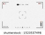 camera frame viewfinder. screen ... | Shutterstock .eps vector #1523537498