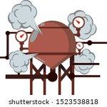 boiler for heating water. red... | Shutterstock .eps vector #1523538818