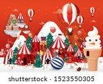christmas greetings design... | Shutterstock .eps vector #1523550305