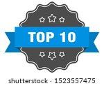 top 10 blue label. top 10... | Shutterstock .eps vector #1523557475