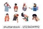 people listen to music. dancing ... | Shutterstock .eps vector #1523634992
