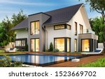 Modern House With Terrace And...