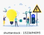 the concept of transition to... | Shutterstock .eps vector #1523694095