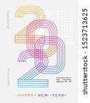 2020 modern design. 2020 happy... | Shutterstock .eps vector #1523713625