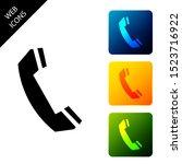 telephone handset icon isolated ...