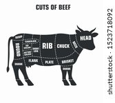 vector icon cuts of beef. image ... | Shutterstock . vector #1523718092