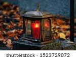 Old Damaged Grave Light Made O...