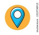 map location icon design... | Shutterstock .eps vector #1523738915