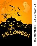 halloween template design... | Shutterstock .eps vector #1523763425