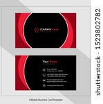 abstract vector business card...   Shutterstock .eps vector #1523802782