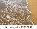 sea wave on a wet sand | Shutterstock . vector #15238090