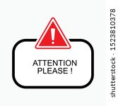 attention please icon   vector  ... | Shutterstock .eps vector #1523810378