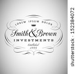 vintage emblem made of separate ... | Shutterstock .eps vector #152384072