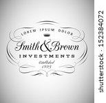vintage emblem made of separate ... | Shutterstock .eps vector #152384072