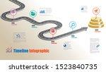 business road map timeline... | Shutterstock .eps vector #1523840735
