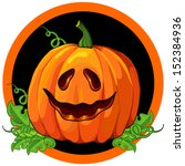 pumpkin in a circle | Shutterstock .eps vector #152384936