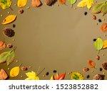 halloween and autumn leaf...   Shutterstock . vector #1523852882