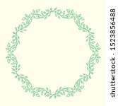 ivy or vine border vector with...   Shutterstock .eps vector #1523856488