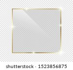 gold shiny glowing frame with... | Shutterstock .eps vector #1523856875