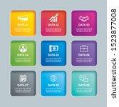 infographics rectangle paper...   Shutterstock .eps vector #1523877008
