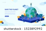 trendy flat illustration. save... | Shutterstock .eps vector #1523892992