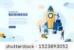 trendy flat illustration.... | Shutterstock .eps vector #1523893052