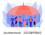 individuals under umbrella... | Shutterstock .eps vector #1523895842