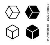 box icon vector on white... | Shutterstock .eps vector #1523898818
