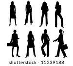silhouettes   Shutterstock .eps vector #15239188