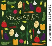 vegetable illustration | Shutterstock .eps vector #152391992
