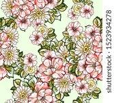flower print. elegance seamless ...   Shutterstock . vector #1523934278