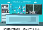 Chemical Lab Flat Vector...