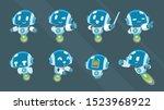 flying robot mascot character...   Shutterstock .eps vector #1523968922