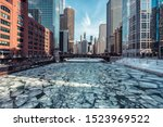 Ice On Chicago River During...