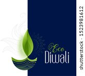 happy eco and safe diwali... | Shutterstock .eps vector #1523981612