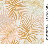 luxurious botanical tropical... | Shutterstock .eps vector #1524007358