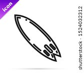 black line surfboard icon... | Shutterstock .eps vector #1524032312