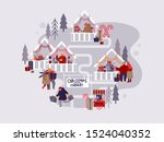 people characters with holiday... | Shutterstock .eps vector #1524040352