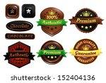 chocolate premium authentic... | Shutterstock .eps vector #152404136